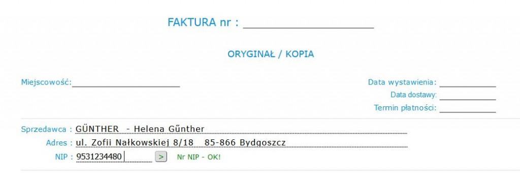 Faktura Vat Online Günther Profesjonalna Księgowość
